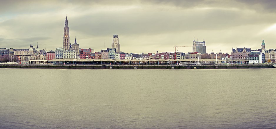 Antwerp skyline (HDR panorama by Ben Pottiez)